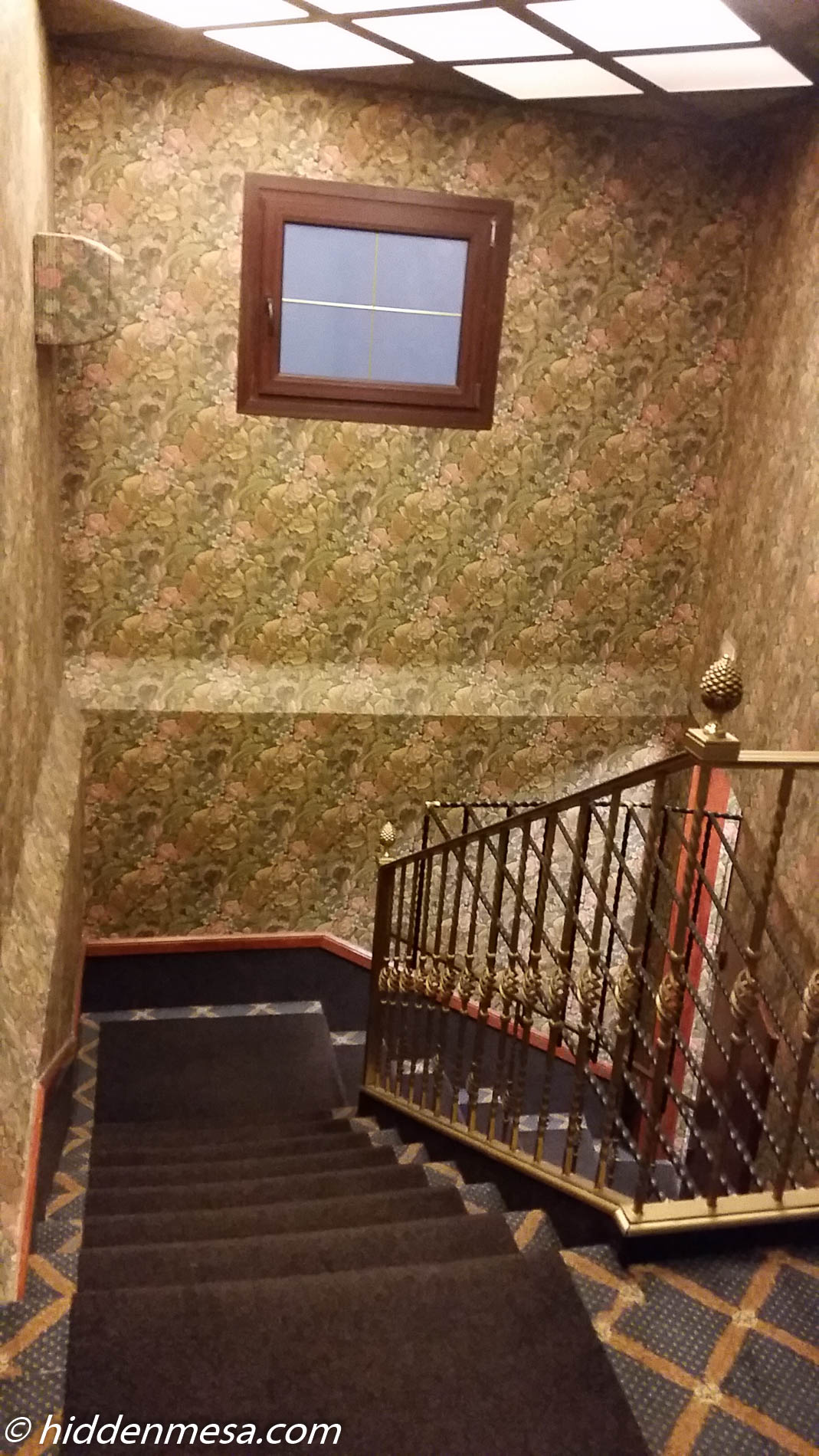 Stairs and Wallpaper