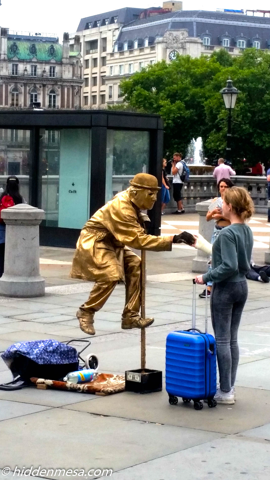 Another odd character in Trafalgar Square.