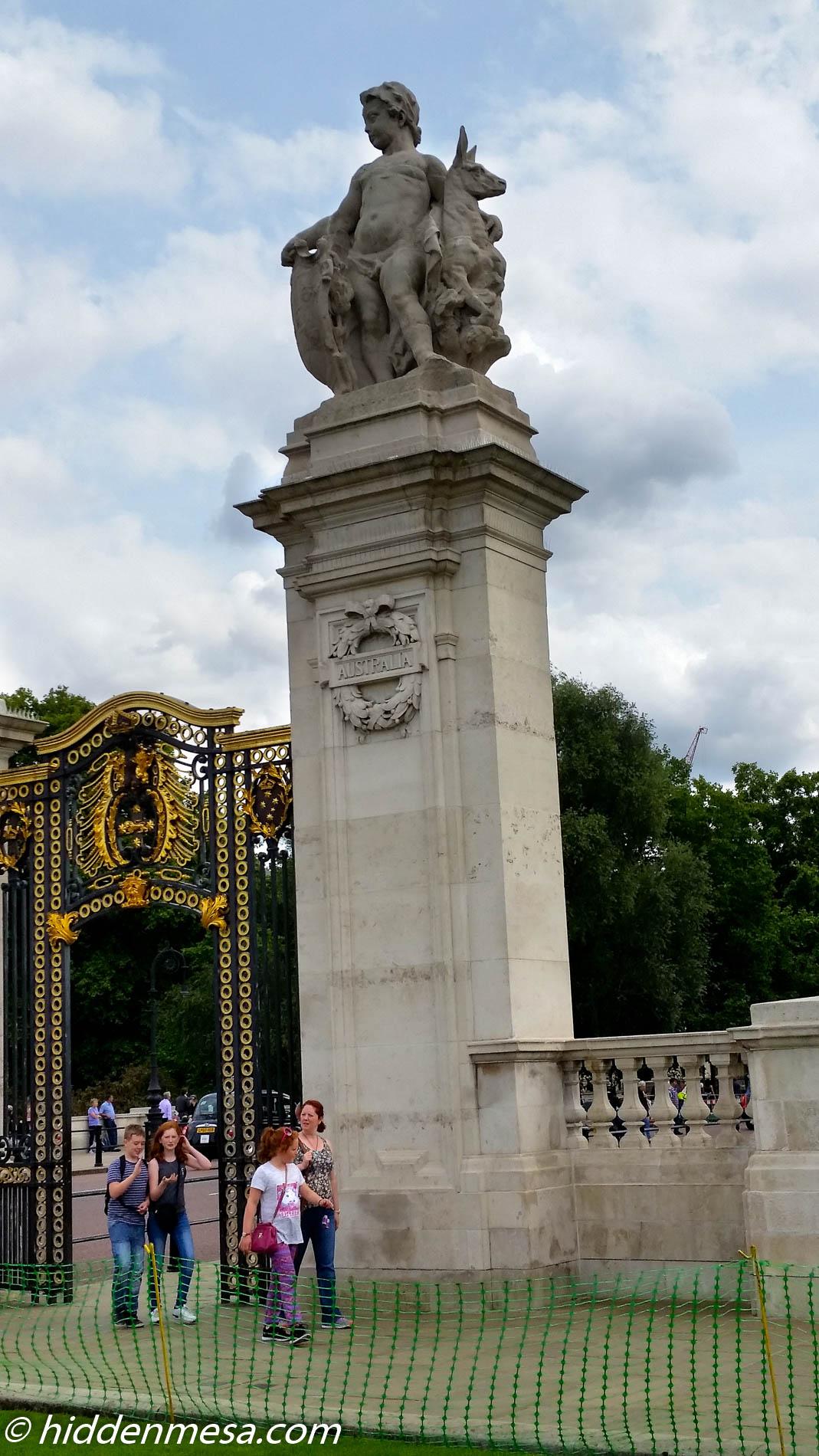Australia Gate at Buckingham Palace