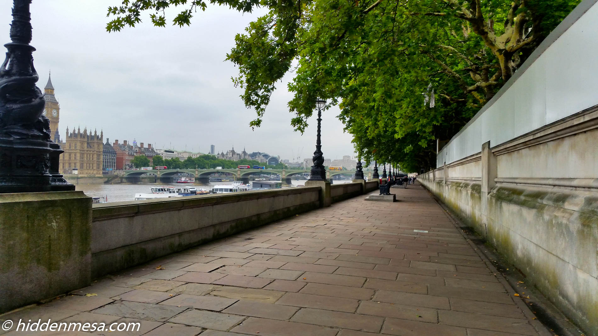 Walkway Along the River Thames