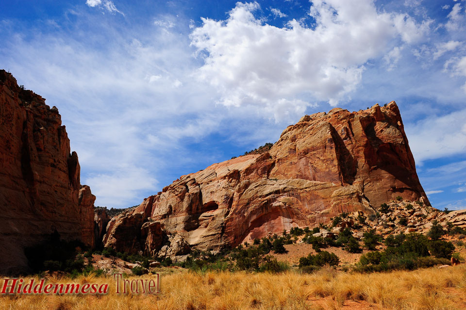 Red Rock formation near Capitol Reef National Park