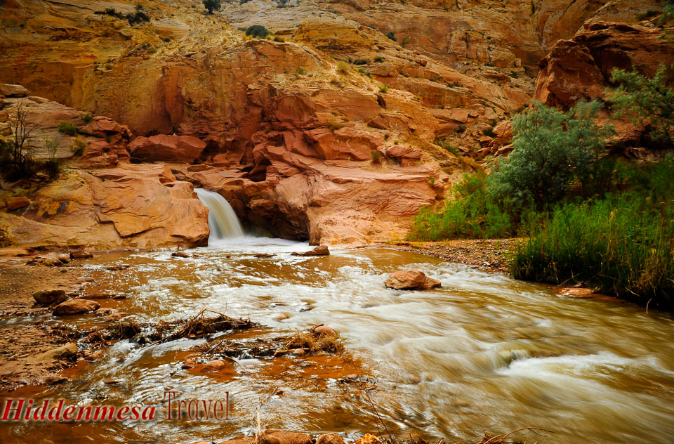 Waterfall at Capital Reef National Park