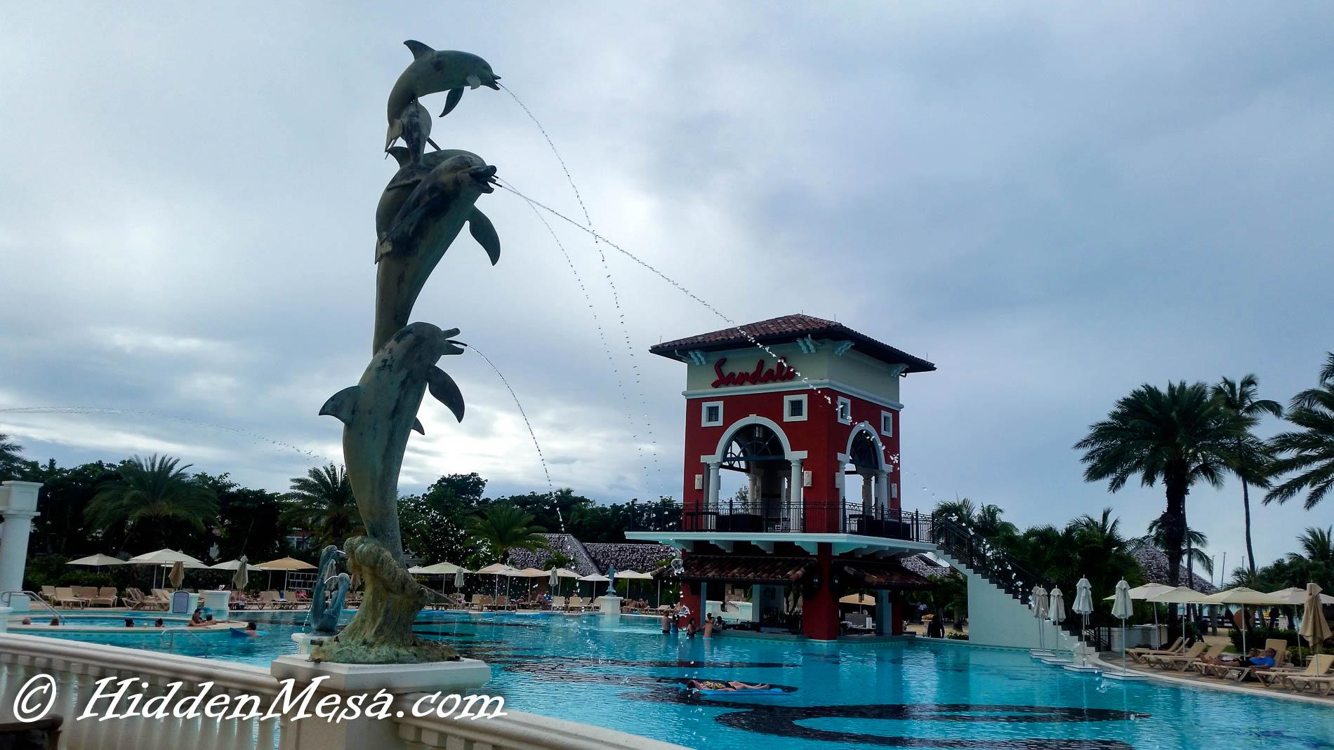 Main Pool at Sandals, Grande Antigua