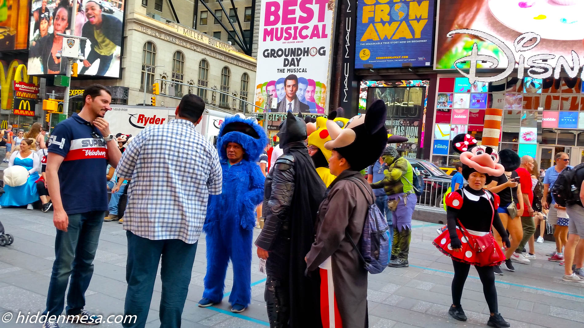 Characters in Time Square