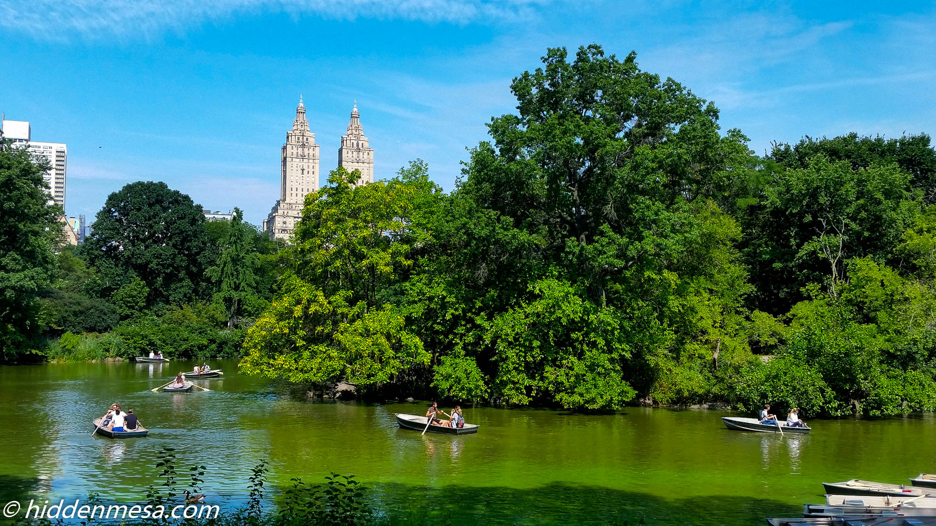 Rowboats in Central Park.