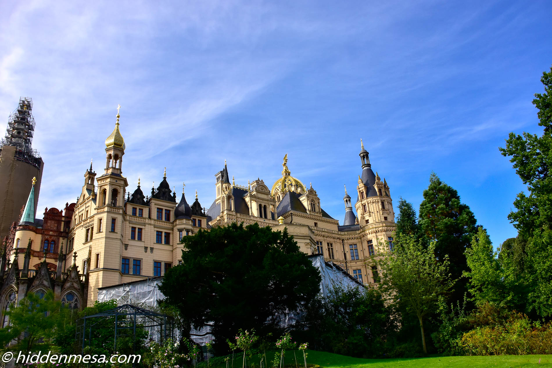 Schwerin Palace and the Golden Dome.