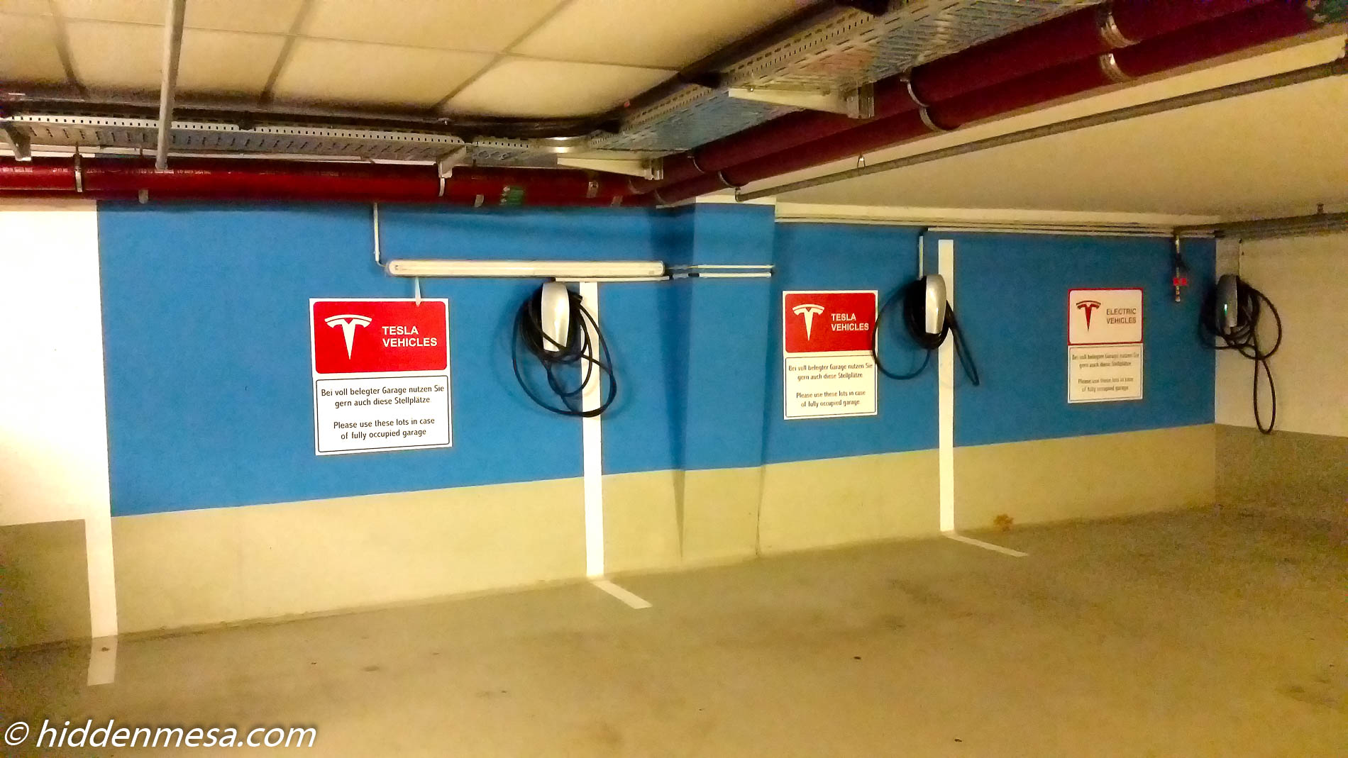 Charging Station in Garage.