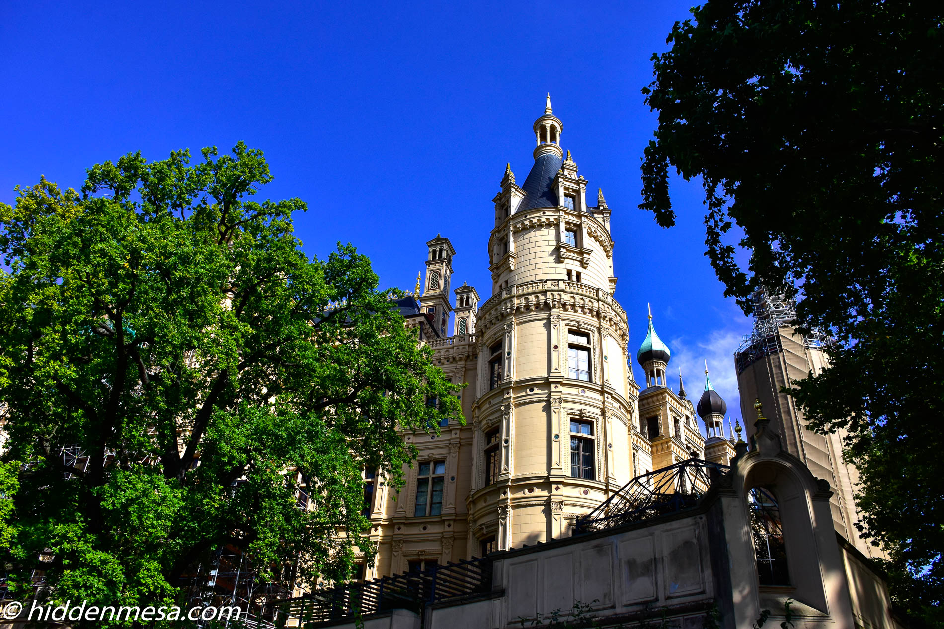 Domes of Schwerin Palace.