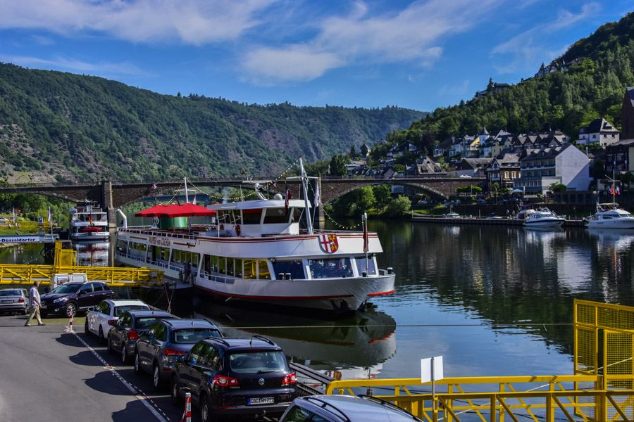 Boats on the Mosel River