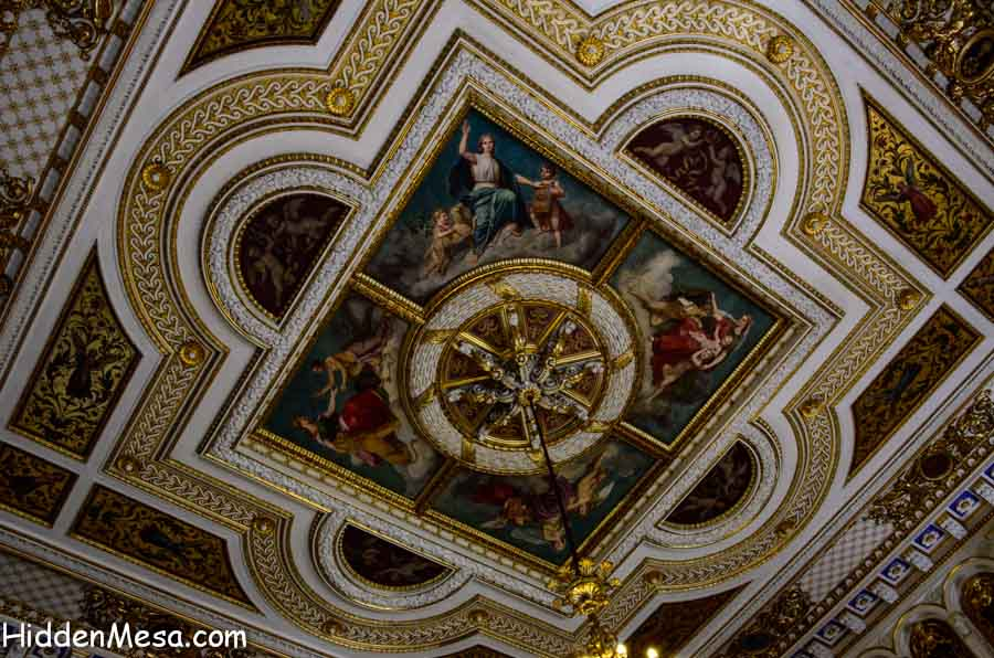 Ceiling inside the Schwerin Castle