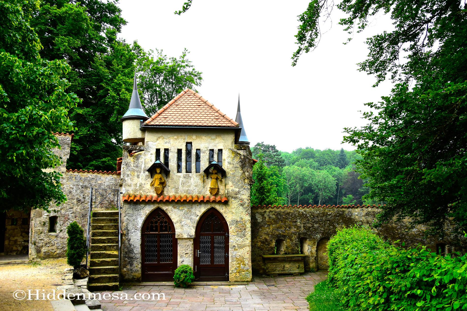outbuildings at Lichtenstein Castle
