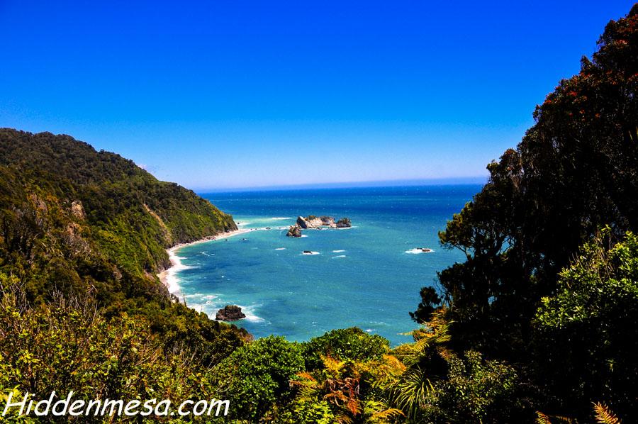 Te Wahipounamu Overlook on the Tasman Sea
