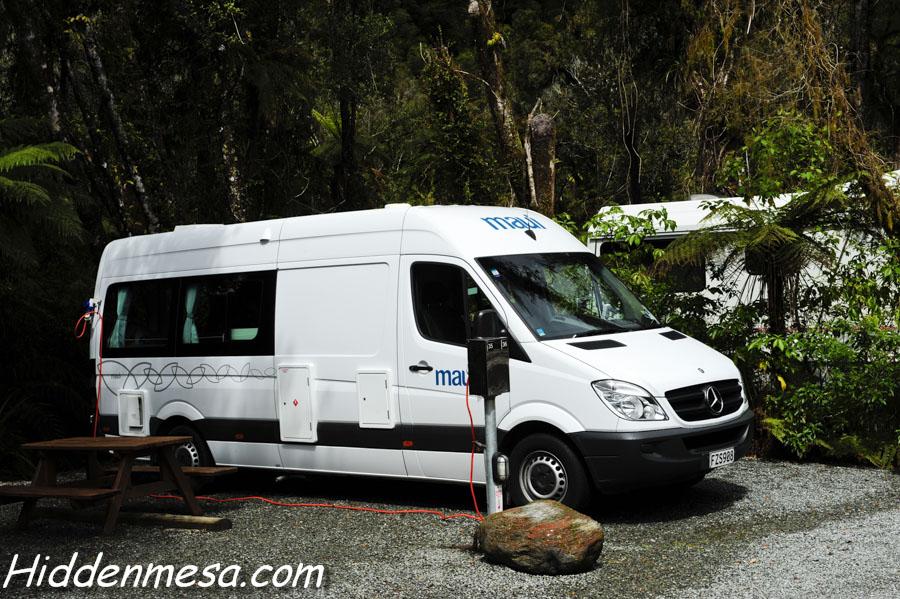 Our Diesel Mercedes Campervan.