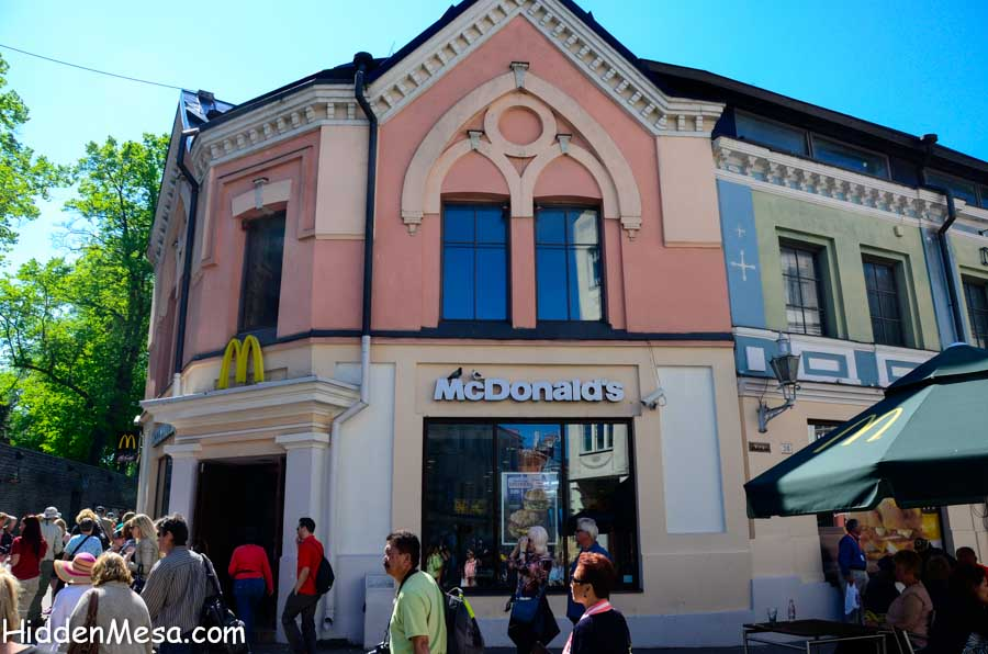 Every medieval city had a McDonalds
