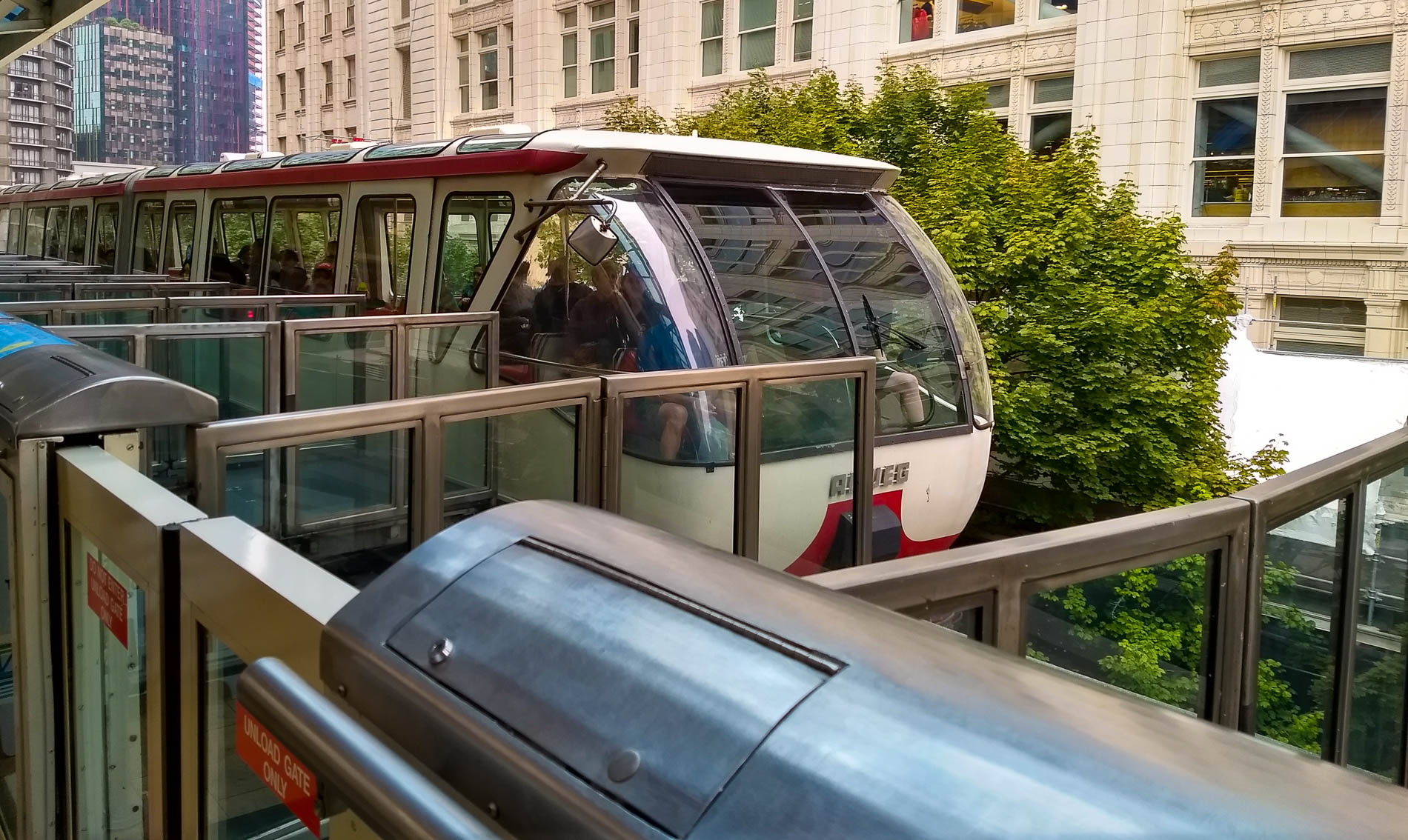 Monorail Arriving
