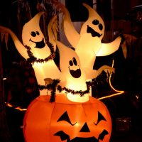 Halloween at Fort Wilderness Campground brings many different decorations to RVers' campsites.