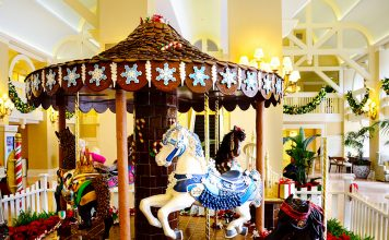 Gingerbread Carousel at Yacht and Beach Club.