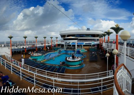 Poolside aboard the Norwegian Dawn is relaxing.