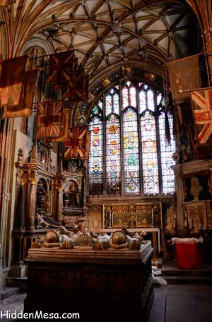 The Buffs, The Royal East Kent Regiment at Canterbury Cathedral. Image by Donald Fink