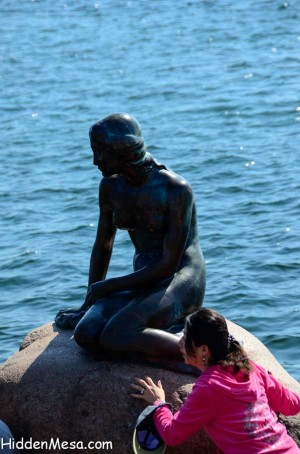 Sculpture of The Little Mermaid from H.C. Anderson's famous fairy tale.