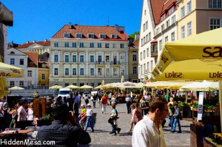 Tallinn seems to have a lively and vibrant community. Even though the cruise season is only three months long because of its extreme northern location, the town square in Old Town is alive with tourists and locals alike; enjoying the early summer sunshine.