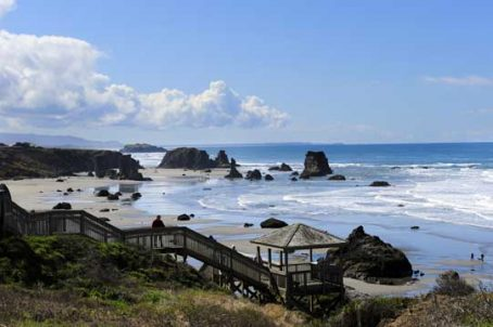 There are many places along the Oregon coastline where visitors can stop and appreciate is raw beauty. Image by Donald Fink