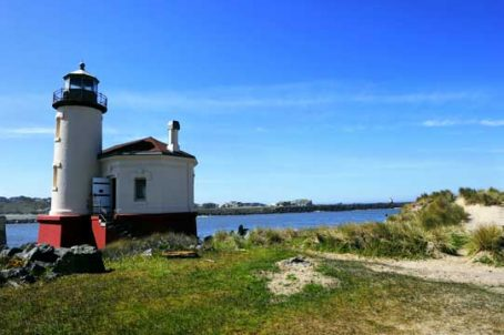 Coquille River Lighthouse is located at Bullards Beach State Park. It's open year round and visitors are welcome. Image by Donald Fink