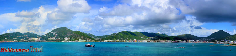 The Caribbean port of St. Marten. Image by Donald Fink