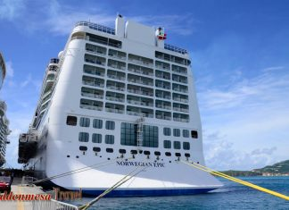 Norwegian Epic docked in St. Marten