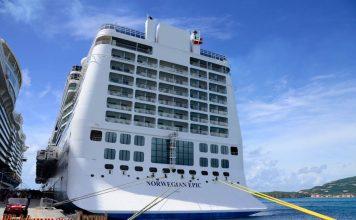 Norwegian Epic docked in St. Marten