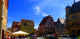 Town square in old town, Rotherburg