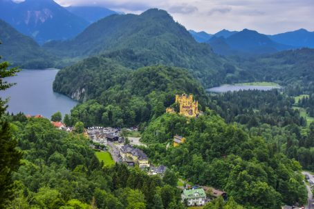 nestled at the base of the Bavarian Alps in southern Germany, Hohenschwangau is the place to be if you want to see castles. Image by Bonnie Fink.