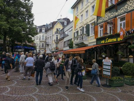 Like many towns we visited in Germany, Baden-Baden has an Old Town that's designed for tourists and locals to visit on foot. Image by Bonnie Fink.