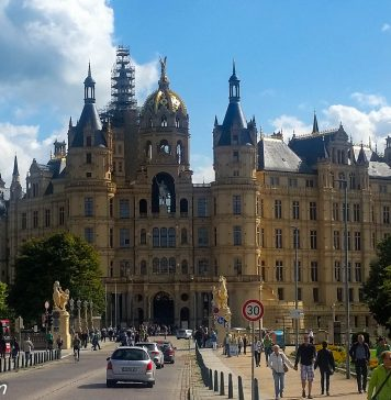 Entrance to Schwerin Palace.