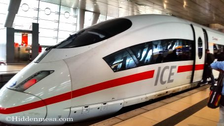 ICE Train from Frankfurt to Brussels