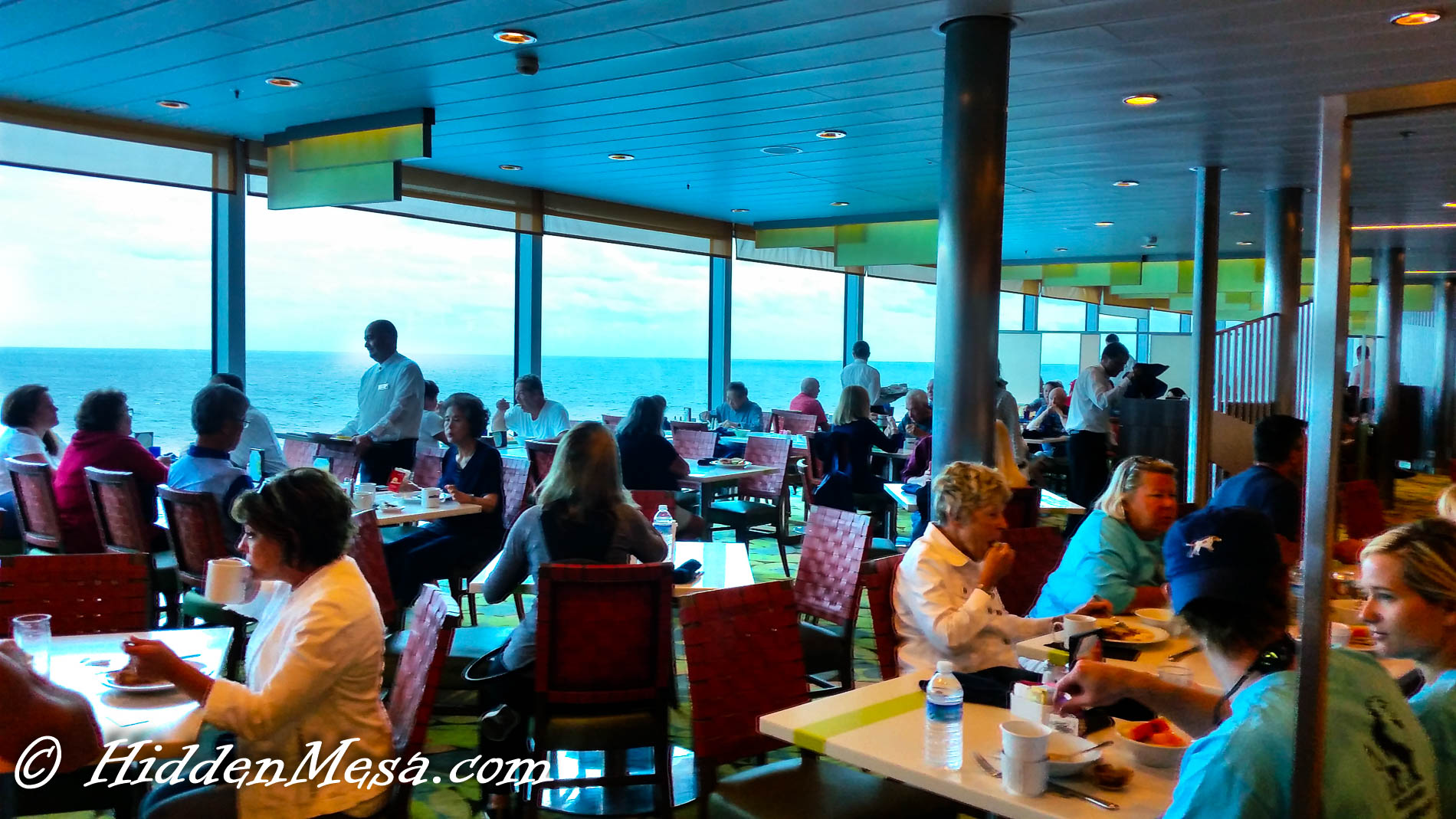 Seating at the Oceanview Cafe