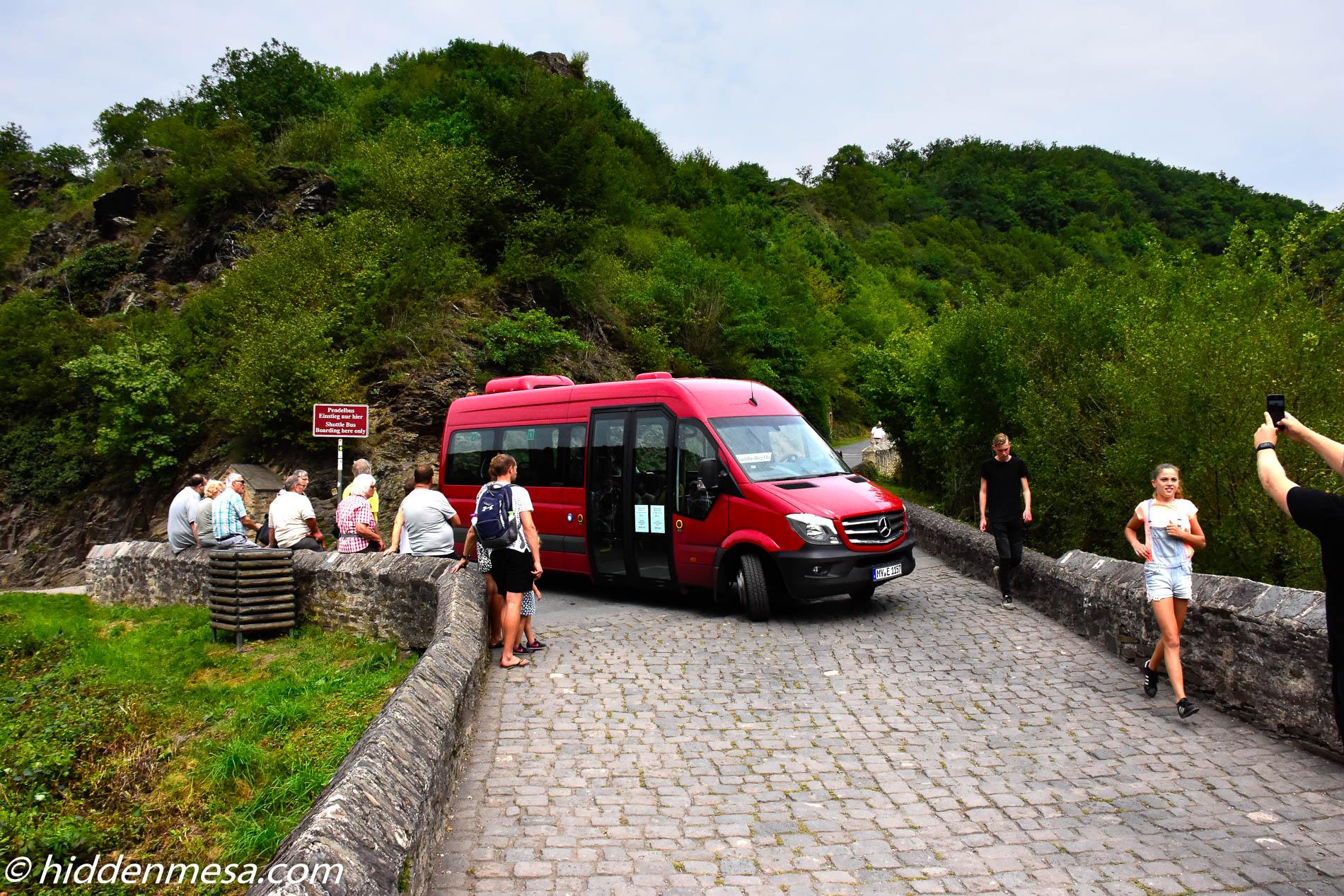 Shuttle Bus at Castle Eltz