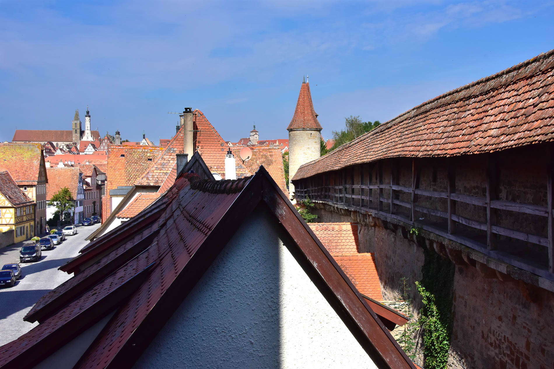 View From the Wall Around Rothenburg.