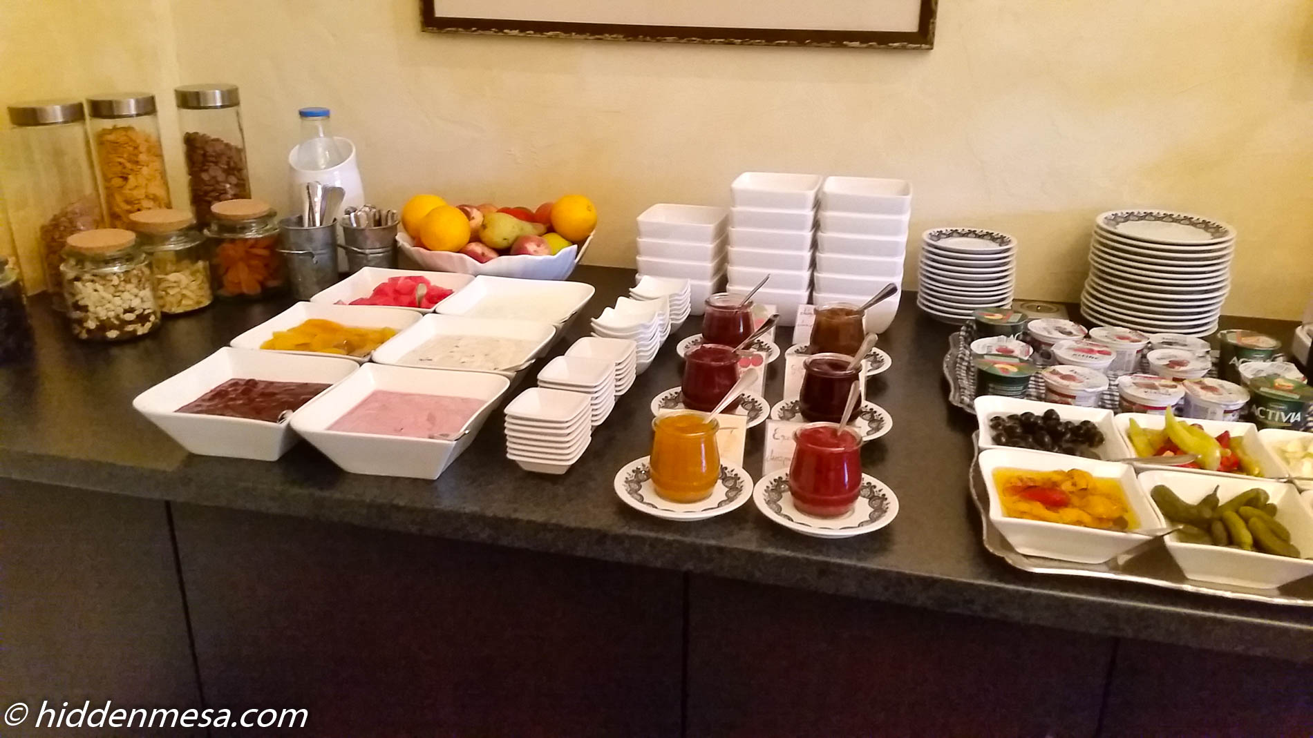 Breakfast Selection at Stumberger's Hotel