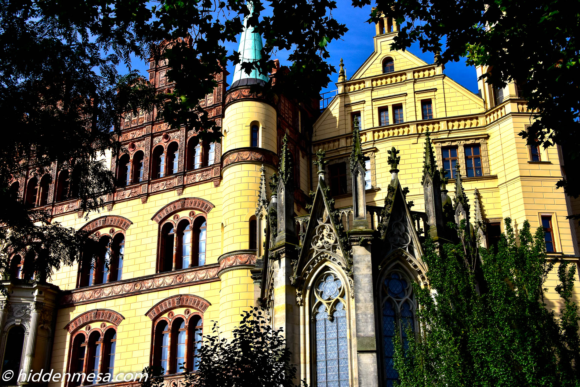 Schwerin Palace Through The Trees.