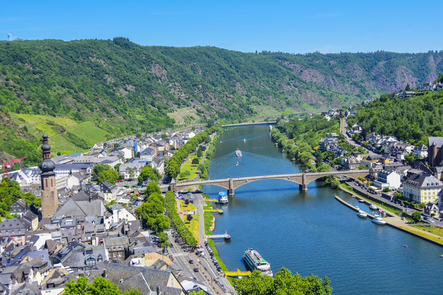 View of Cochem and Mosel River