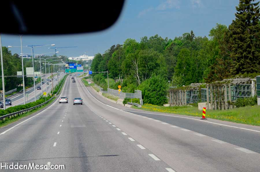 Freeway in Finland