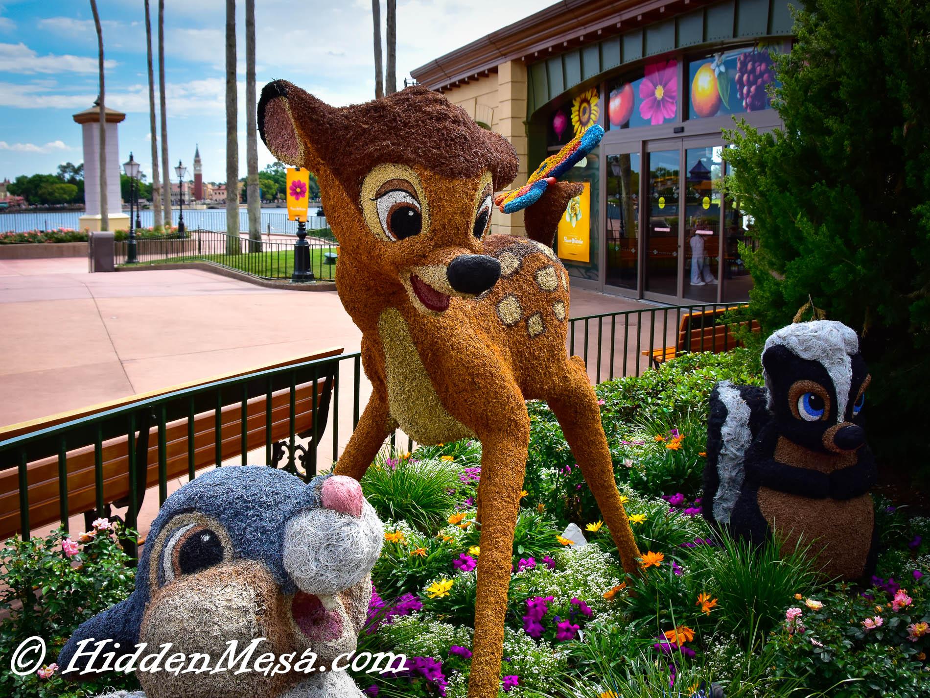 Bambi,Thumper, and Flower
