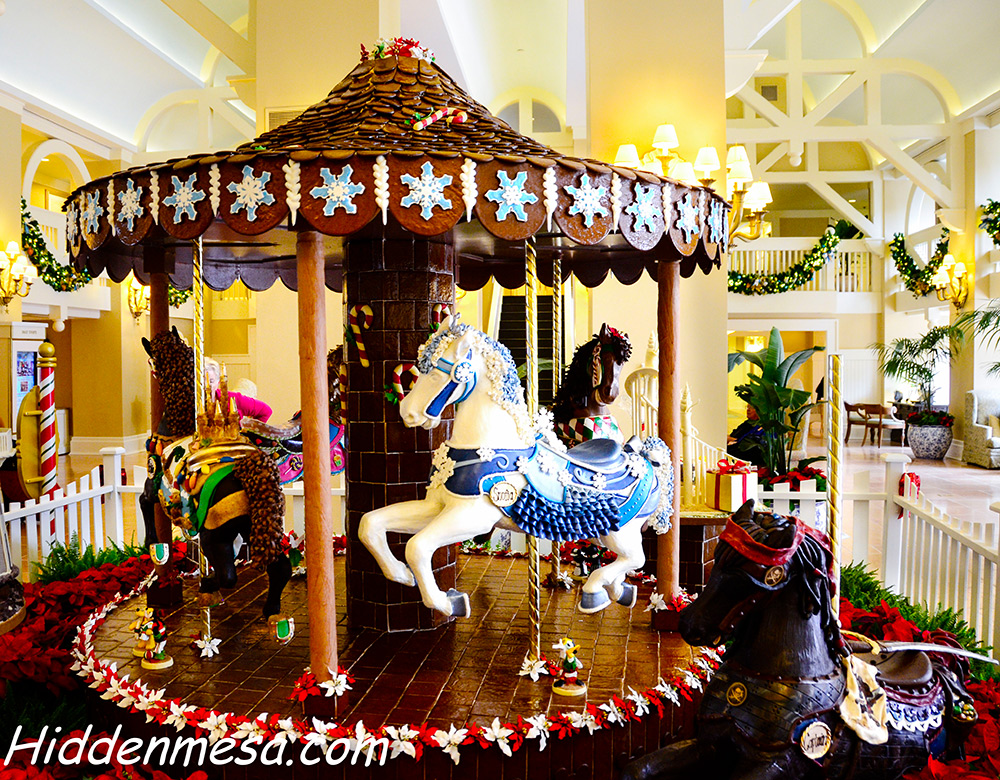 Gingerbread Carousel at Yacht and Beach Club