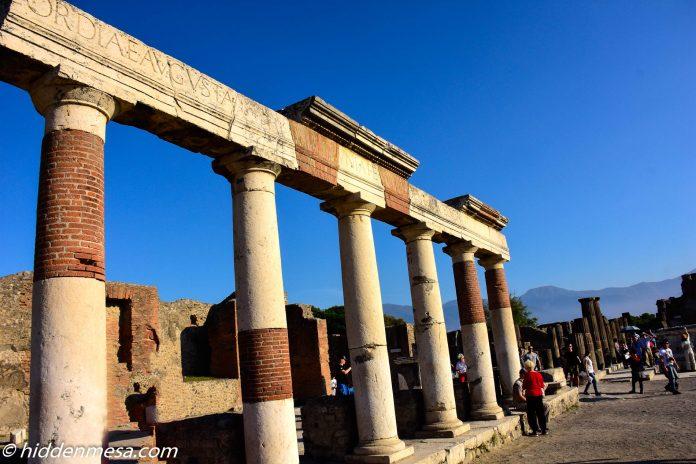 Columns at the Temple of Jupiter