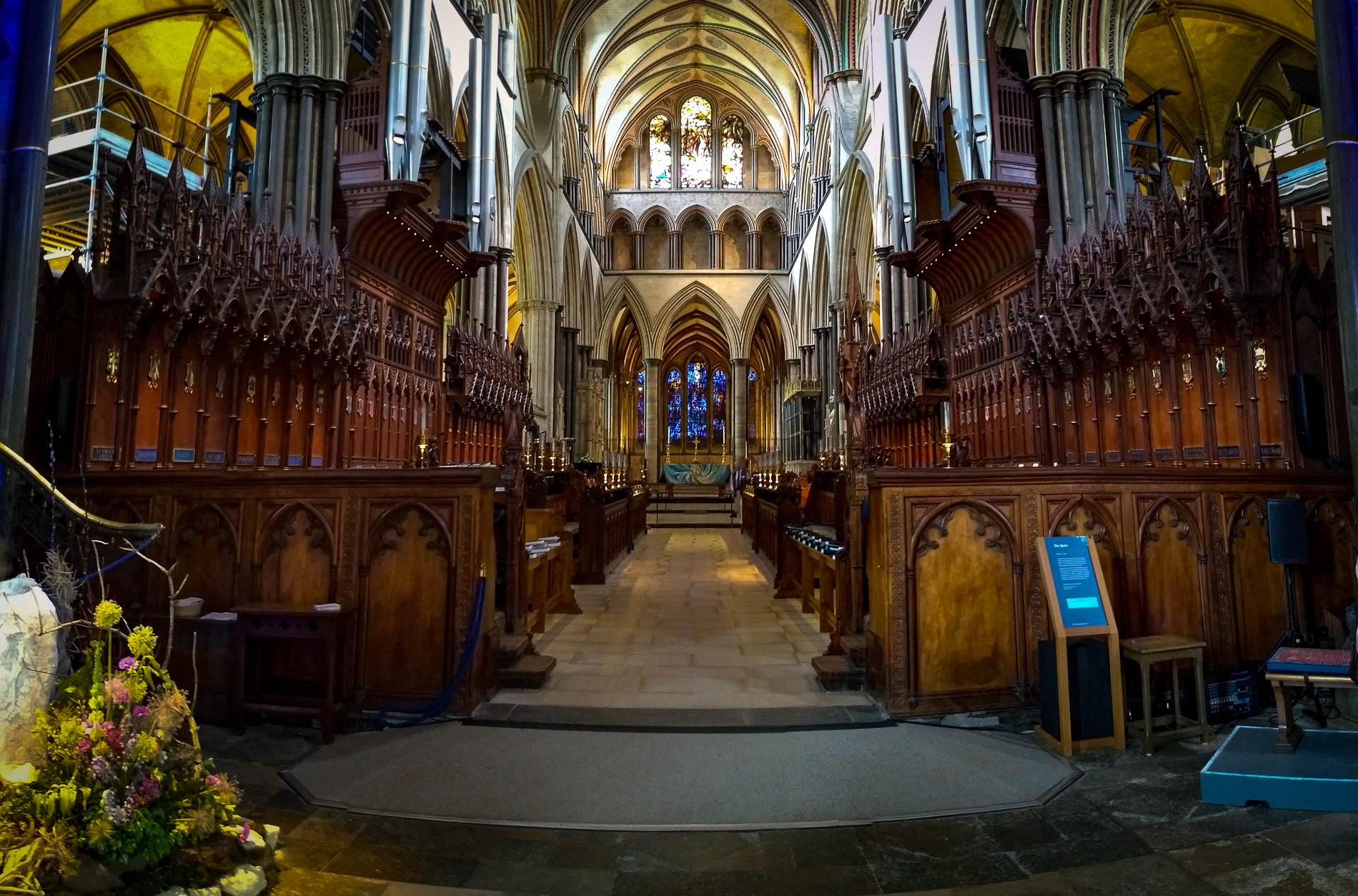 Salisbury Cathedral in Southwestern England